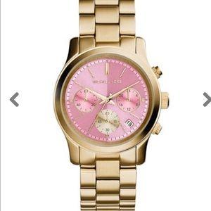 Michael Kors Runaway Pink Women's Mk6161 Watch